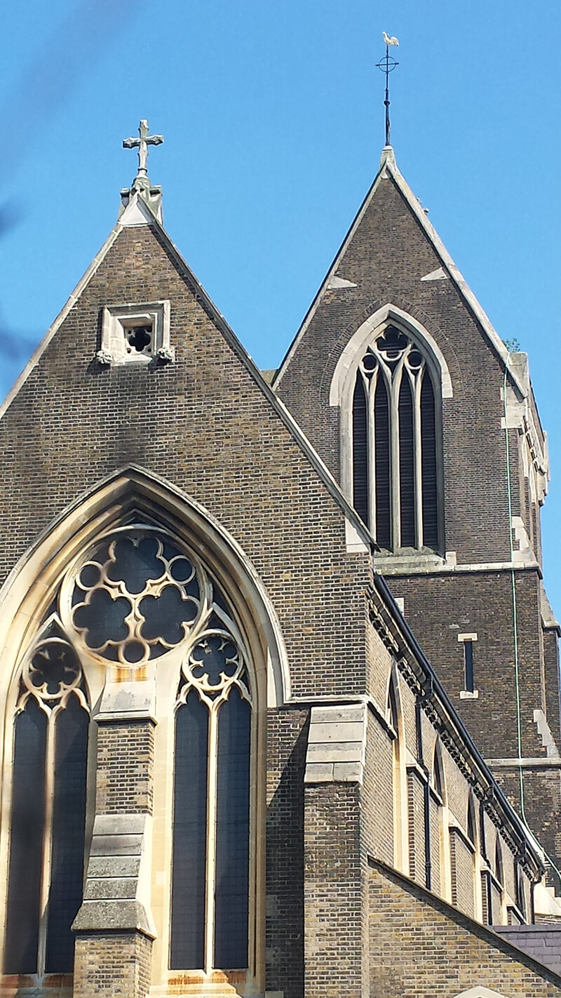 St Matthias Church N16 - on a sunny day