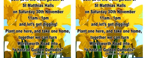 Wordsworth Road daffodil planting day