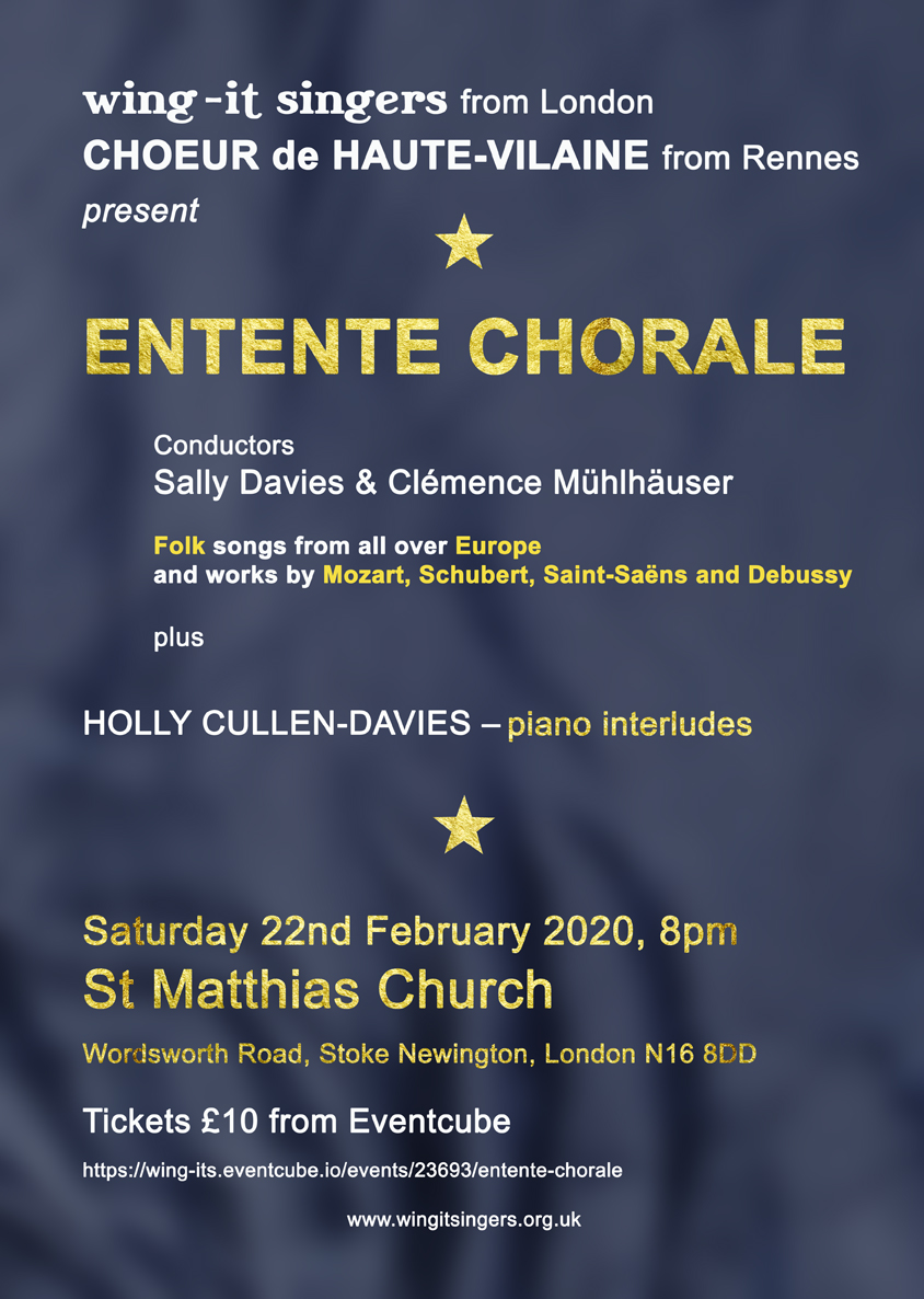 Entente Chorale flyer